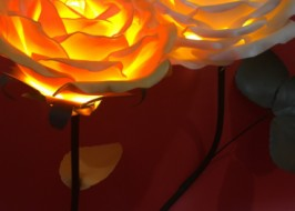 Lamp , Handmade lamp, Red Rose