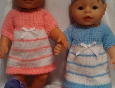 одежда для кукол Baby Born вязаное платье и повязка творилка