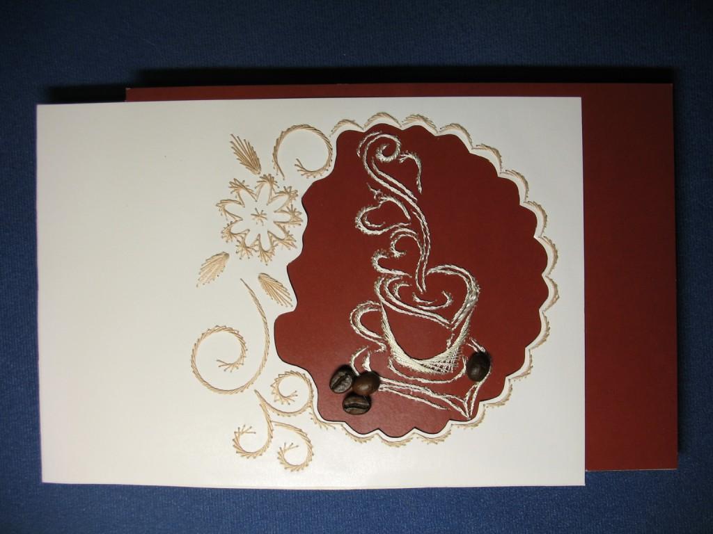 наше кофейные открытки ручной работы касается иллюстраций