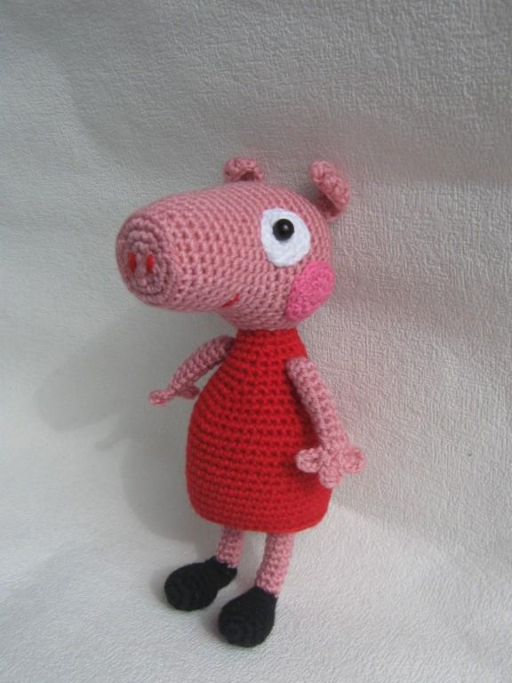 вязаная игрушка свинка пеппа творилка всё для любителей